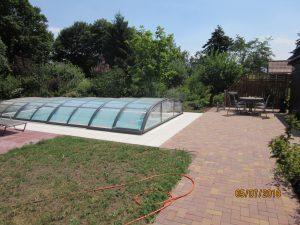 Außenanlage und Poolneubau